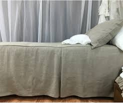 dark linen tailored bed cover linen bedspread tailored