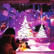 christmas tree happy year vinly pvc window sticker diy art
