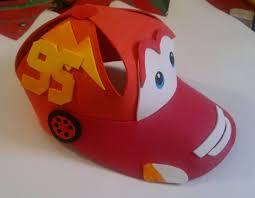 como hacer gorras de fomix del cars como hacer gorros de fomi para fiestas imagui deco cars