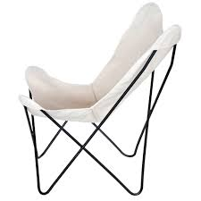 Outdoor Sling Chairs Steele Butterfly Sling Chair Natural Steele Canvas Basket Corp