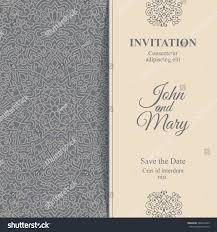 Invitation Card Cover Elegant Save Date Card Design Vintage Stock Vector 346072205