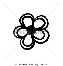 vector clip art of simply flower sketch vector hand drawn simple