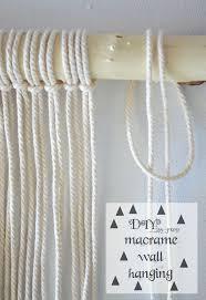 Easy Room Decor Diy Easy Wall Hanging Macrame Hometalk