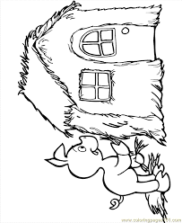 pigs 3 coloring free houses coloring pages