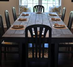 dining room grey rustic table how to make a flower vase using