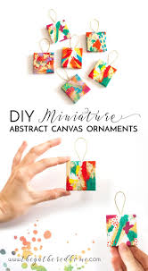 eclectic ornaments of christmas diy miniature abstract ornaments