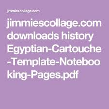 jimmiescollage com downloads history egyptian cartouche template