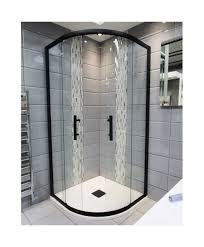 900 Bifold Shower Door by 1200mm X 900mm Double Door Black Quadrant Shower Enclosure And