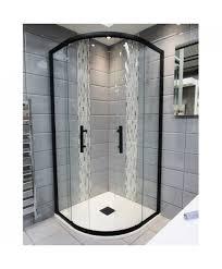 Black Shower Door 1200mm X 900mm Door Black Quadrant Shower Enclosure And