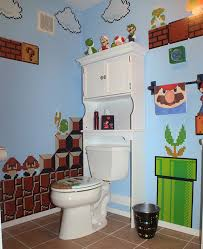 themed toilet seats a mario kong and pac themed bathroom geekologie
