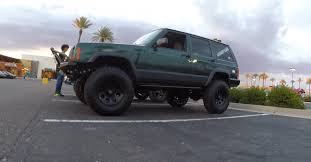 green jeep cherokee cole u0027s xj cherokee the mean green off road machine