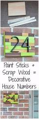 creative ways to display your house number with diy projects