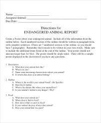 animal report template 9 animal report templates word pdf free premium templates
