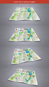 Los Angeles Map Poster by Map Poster Folder Mockup By Karatheme Graphicriver