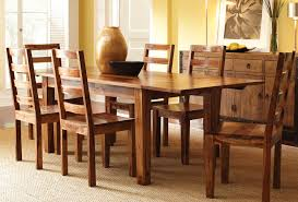 rustic wood dining room table wonderful chairs collection in solid