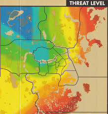 Fallout 3 Bobblehead Map by Heat Map Showing The Safe And Less Safe Areas In The Commonwealth