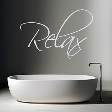 relax wall sticker large word wall decor