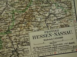 Nassau Map 1896 Antique Dated Map Of The Northern Part Of Rhine Province