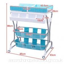 rolling baby changing table 2 in 1 infant changing table baby bath tub unit rolling station