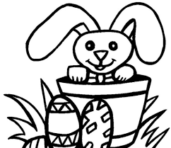 magic easter bunny coloring picture within free printables pages