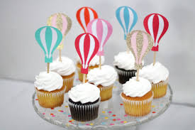 air cake topper colorful hot air balloon cupcake toppers birthday wedding bridal