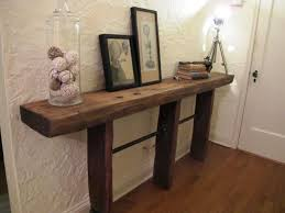 Diy Reclaimed Wood Desk Fascinating Reclaimed Wood Console Table