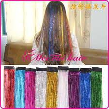 laser hair extensions light hair extension colorful metallic wire wire colorful