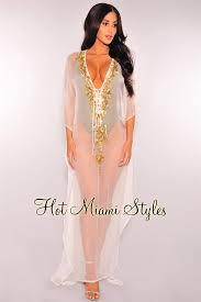 gold maxi dress white sheer gold sequins cover up maxi dress
