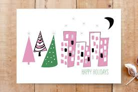 Graphic Design Holiday Cards Mid Century Modern Holiday Card Cards By Melanie B Minted