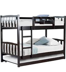 Pullout Bed Buy Mclogan Bunk Bed With Pull Out In Cappuccino Finish By