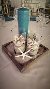 Starfish Wedding Centerpieces by Simple But Cute Beach Themed Centerpiece Cylinder Vases Beach