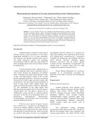phytochemical evaluation of farsetia hamiltonii royle from