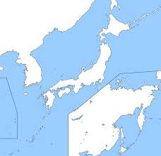 Map Japan Image Blank Map Of Japan And Korea Including Russian Far East