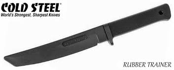 cold steel kitchen knives cold steel recon tanto rubber knife 92r13rt