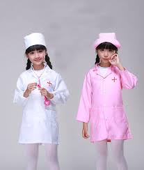 cosplay q228 child white doctor costume halloween nurse