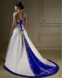 exclusive wedding dresses and accessories royal blue and white