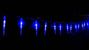 vickysun led blue icicle lights snowing