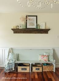 Church Pew Home Decor More Spring Inspiration In My Home Shades Of Blue Interiors