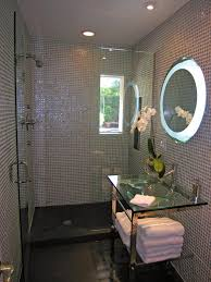photos hgtv modern bathroom with iridescent tile walls and glass
