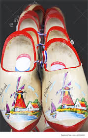 image of red wooden shoes