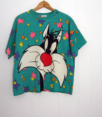 sylvester shirt vintage looney tunes sylvester cat boxy 90s t by thefamilyvtg