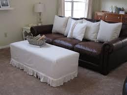 Sofa Covers White Ottoman Mesmerizing Img Ottoman Slipcover No Sew Using Painter S
