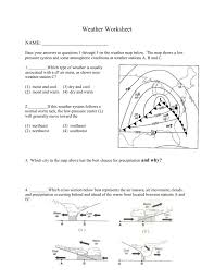Weather Map Worksheets Review Worksheet On Weather