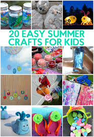 20 easy summer crafts for kids a little craft in your day