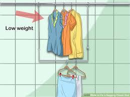 3 ways to fix a sagging closet rod wikihow