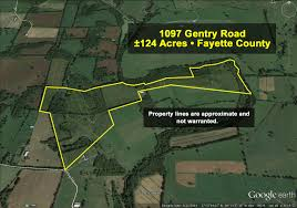 Property Lines Map 124 Acre Farm In Lexington Ky Being Offered At Absolute Auction