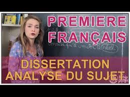 Dissertation   Analyse du sujet   Fran  ais    re   Les Bons Profs
