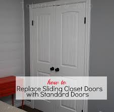 Standard Bifold Closet Door Sizes Unique Replace Bifold Closet Door Ideas Compilation Home