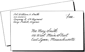 Business Letter Mailing Address Format 9 Letter Format Address Envelope Ledger Paper