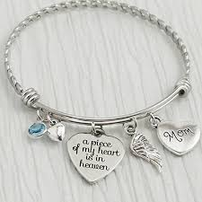 memorial bracelets for loved ones memorial jewelry a of my heart is in heaven